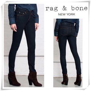 Rag and Bone High Rise Skinny Jeans Clean Indigo